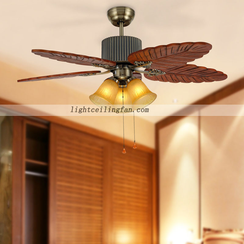 Wood Ceiling Fan With Light