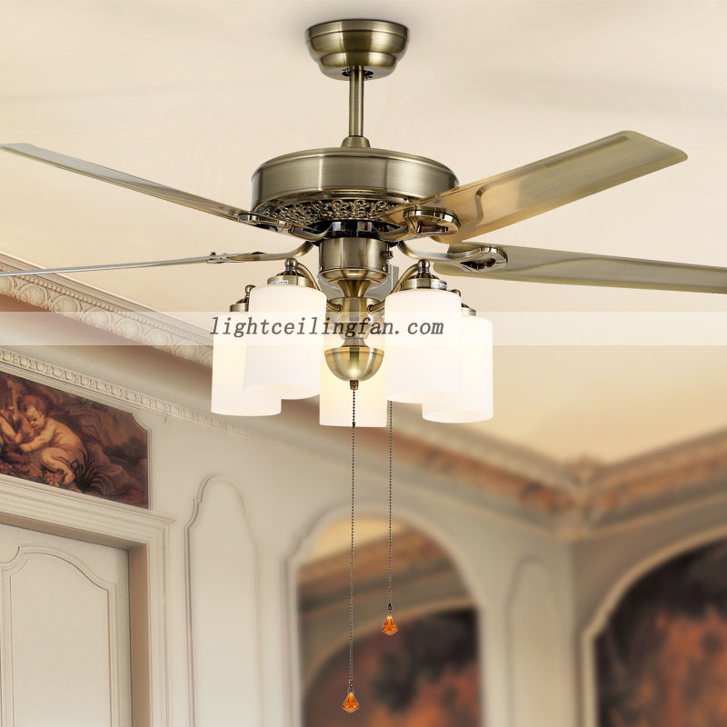 52inch green antique led simple metal modern ceiling fan lamp fan lights for bedroom ceiling. Black Bedroom Furniture Sets. Home Design Ideas
