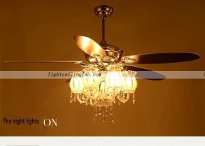 Decorative 56inch Chrome Color Crystal ceiling fans