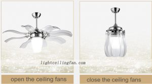 Decorative Foldable Blades ceiling Fans Light