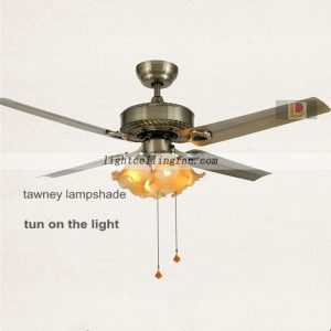 Iron modern ceiling fans with lights