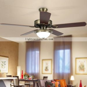 Luxury Green bronze decorative ceiling fans with lights fancy ceiling fan light
