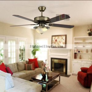 Luxury Green bronze decorative ceiling fans with lights fancy ceiling fans light