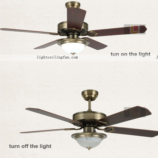 Luxury Green Bronze Decorative Ceiling Fans With Lights