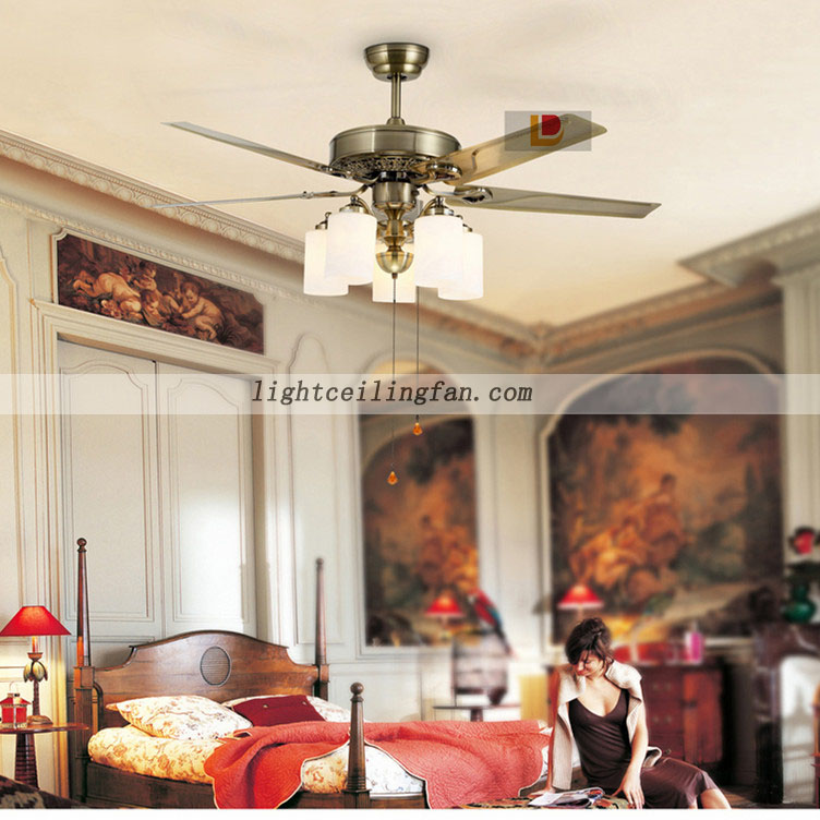 52inch Green Antique Led Simple Metal Modern Ceiling Fan