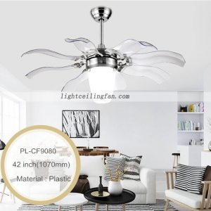 retractable blades ceiling Fan Lights