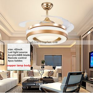 42inch-copper-fan-gold-color-invisible-blades-ceiling-fan