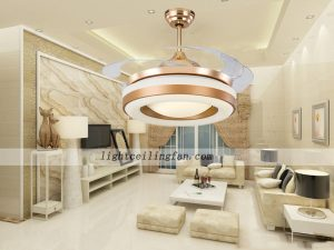 42inch-copper-fan-gold-color-invisible-blades-ceiling-fan-with-led-light