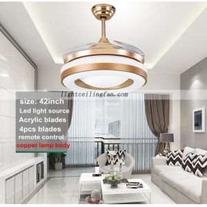 ... 42inch Copper Fans Gold Color Invisible Blades Ceiling  ...