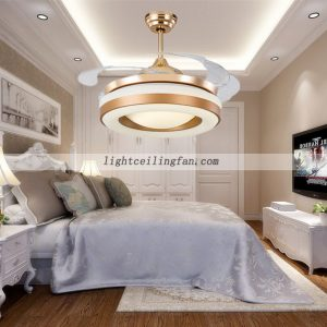 42inch-copper-fans-gold-color-invisible-blades-ceiling-fan-with-led-light