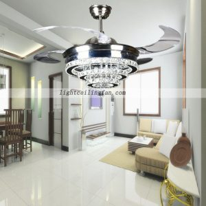42inch-crystal-shade-four-hidden-blades-led-ceiling-light-fan