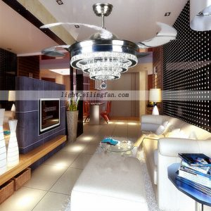 42inch-crystal-shade-hidden-blades-led-ceiling-light-fan