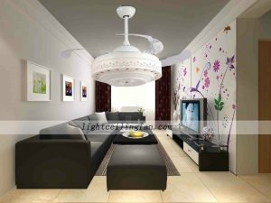 42inch-modern-transparent-plastic-blades-folding-ceiling-fans-lights