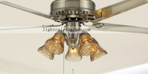 42inch Remote Green Antique Brass Decorative Ceiling Fan Lights