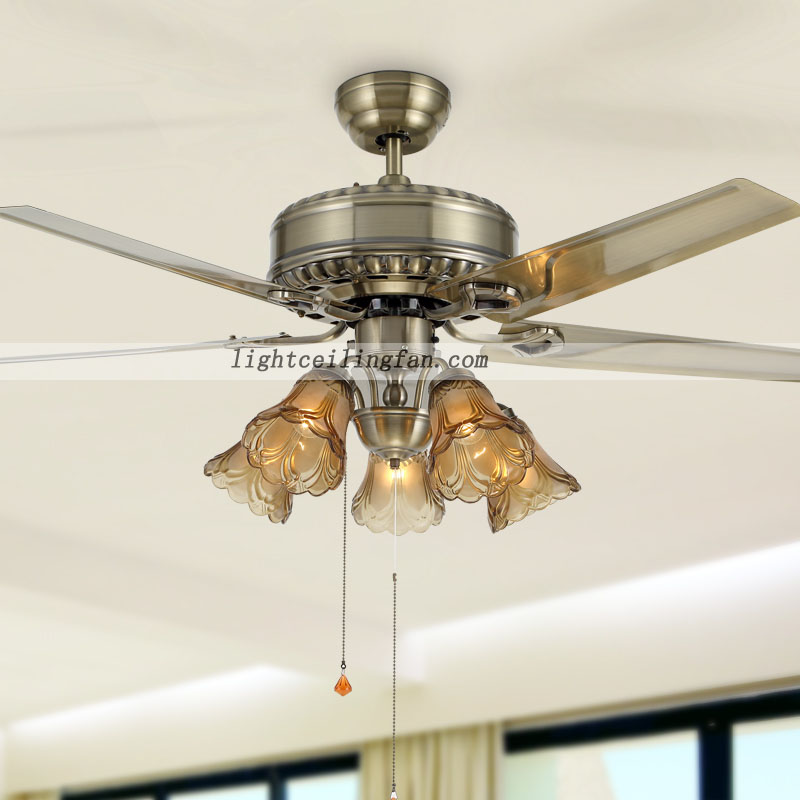 42inch Remote Green Antique Brass Decorative Ceiling Fans