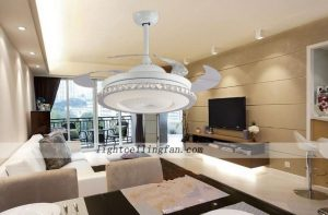 42inch-round-shaped-acrylic-led-ceiling-fans-lights-with-foldable-invisible-blade
