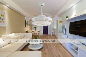 42inch-shaped-acrylic-led-ceiling-fan-lights-with-foldable-invisible-blades