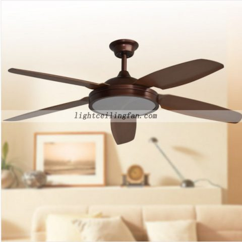 Large size 42 to 62 ceiling fan light 52inch 5 blades dc motor 5 speed remote led light ceiling fan mozeypictures Choice Image