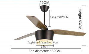 52inch-decorative-3-blades-wood-ceiling-fans-light