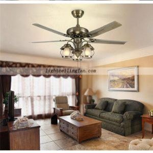 52inch-decorative-green-bronze-metal-ceiling-fan-lights