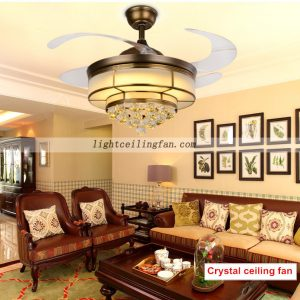 copper-fan-foldable-acrylic-blade-crystal-ceiling-fans-with-led
