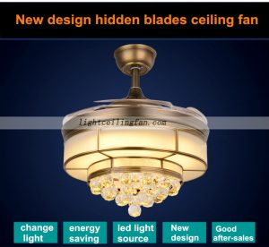 copper-fans-foldable-acrylic-blades-crystal-ceiling-fans-with-led-lighting