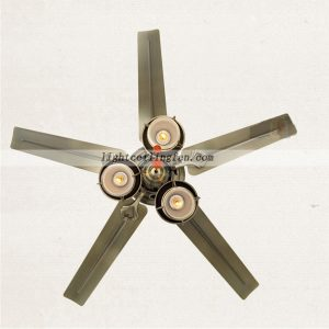 decorative-green-bronze-metal-ceiling-fan-lights