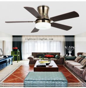 flush-mount-fan-modern-wooden-decorative-led-ceiling-fan