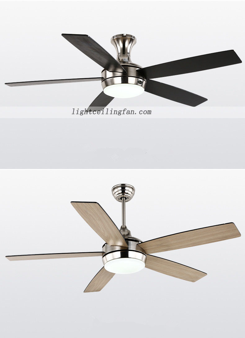 Flush Mount Fan Modern Wooden Decorative Ceiling Fan