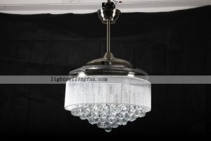 Led crystal Invisible Ceiling Fan Light
