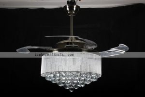 Led crystal Invisible Ceiling Fan Lights