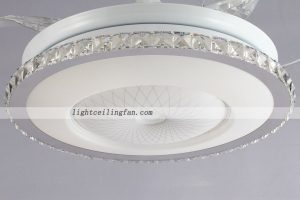 42inch round shaped acrylic led ceiling fans lights with foldable round shaped acrylic led ceiling fan light with aloadofball Image collections