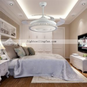 round-shaped-acrylic-led-ceiling-fan-lights-with-foldable-invisible-blade