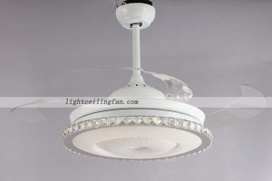round-shaped-acrylic-led-ceiling-fans-light-with-foldable-invisible-blade