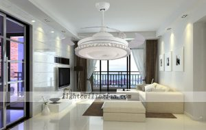 round-shaped-acrylic-led-ceiling-fans-light-with-foldable-invisible-blades