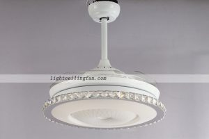 round-shaped-acrylic-led-ceiling-fans-lights-with-foldable-invisible-blade