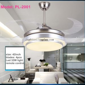 42inch-foldable-invisible-blade-remote-control-round-shaped-led-ceiling-fan-light