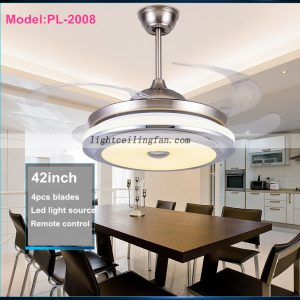 42inch-foldable-invisible-blade-remote-control-round-shaped-led-ceiling-fan-lights