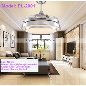 42inch-foldable-invisible-blades-remote-control-round-shaped-led-ceiling-fan-light