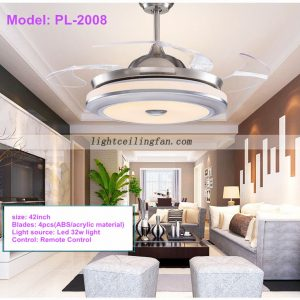 42inch-foldable-invisible-blades-remote-control-round-shaped-led-ceiling-fans-light