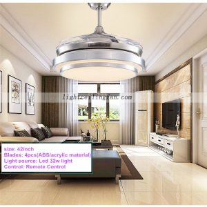 42inch-foldable-invisible-blades-remote-control-round-shaped-led-ceiling-fans-lights