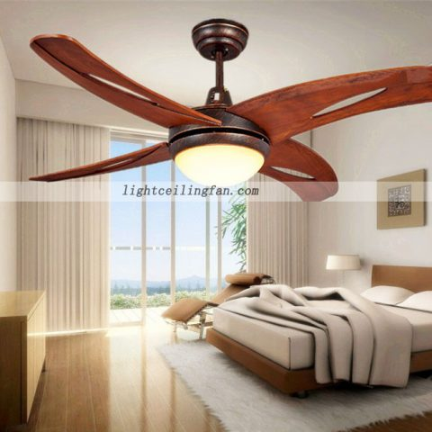 living room decorative led wooden ceiling fan light wood leaf ceiling