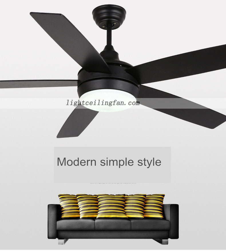 Ceiling Fan Light Kit Modern : Inch modern ceiling fan with led lights kit