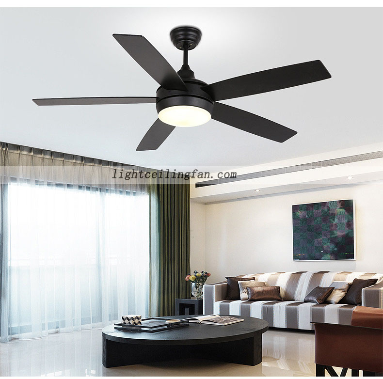 48inch Modern Ceiling Fan With LED Light Kit And Remote