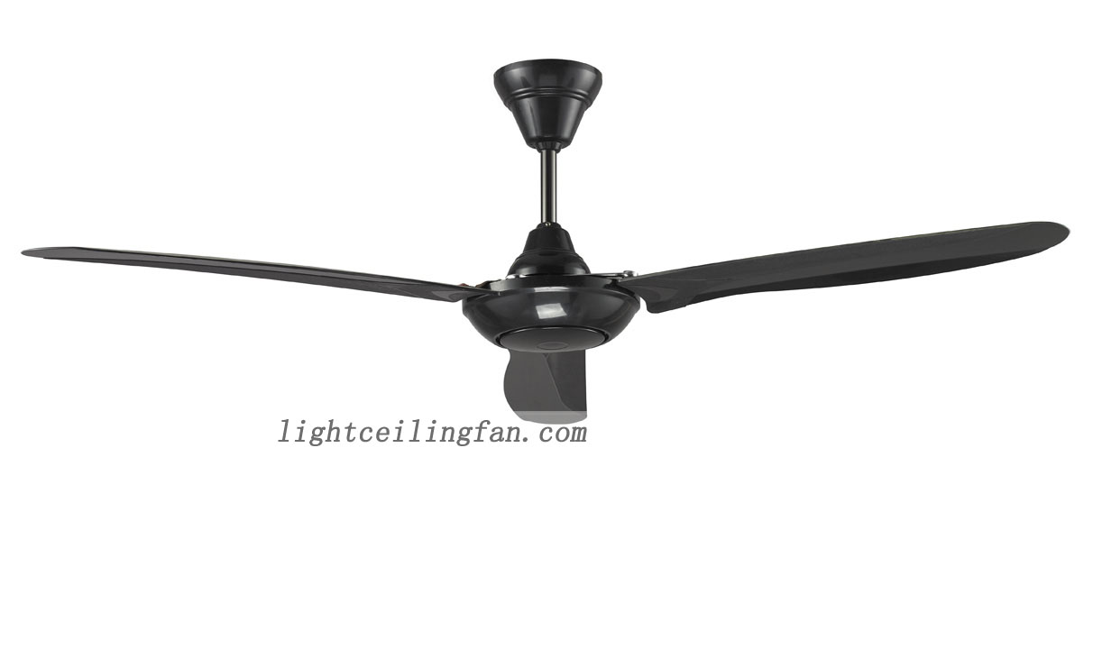 56 Inches Black Ceiling Fan Contemporary Ceiling Fans Without Lights Ceiling Fan Light