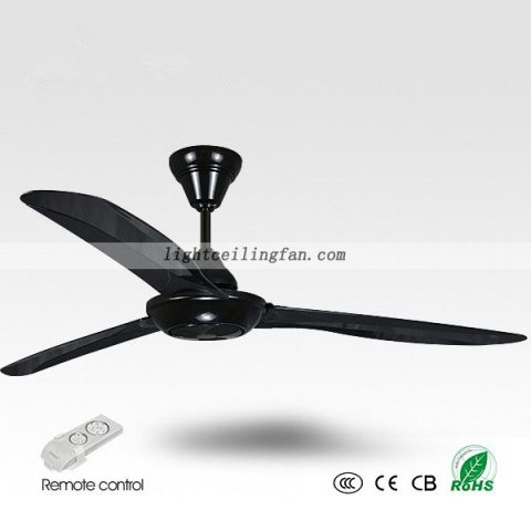 ceiling fans without lights remote control. 56 Inches Black Ceiling Fan Contemporary Fans Without Lights Remote Control M