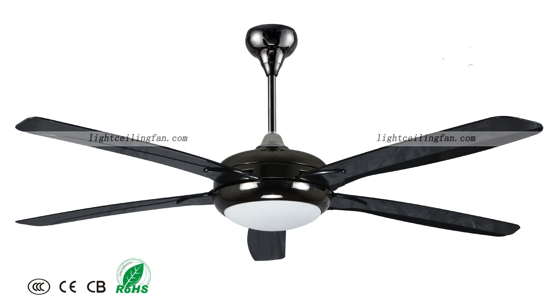 56inch Black Decorative Ceiling Fans With Remote Control