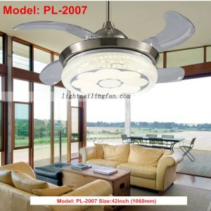 foldable-invisible-blade-remote-control-round-shaped-led-ceiling-fans-lights