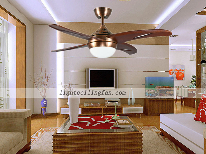 42inch Living Room Decorative Led Wooden Ceiling Fan Light