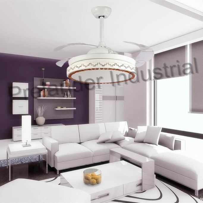42 Inch Invisible Decorative Ceiling Fan With Lights